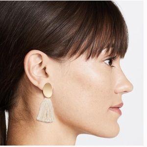 Madewell Curved Tassel Statement Earrings